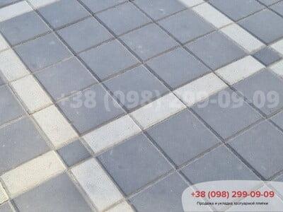 Тротуарная плитка Квадрат 200х200 черныйфото 4