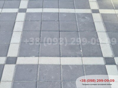 Тротуарная плитка Квадрат 200х200 черныйфото 5
