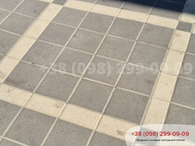 Тротуарная плитка Квадрат 200х200 черныйфото 7
