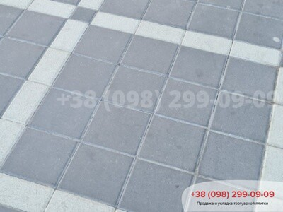 Тротуарная плитка Квадрат 200х200 черныйфото 8