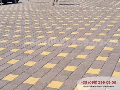 Тротуарная плитка Квадрат 200х200 коричневаяфото 4