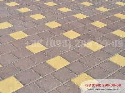Тротуарная плитка Квадрат 200х200 коричневаяфото 5