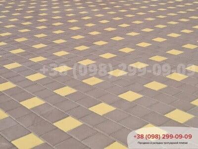 Тротуарная плитка Квадрат 200х200 коричневаяфото 1