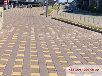 Тротуарная плитка Квадрат 200х200 коричневаяфото 2