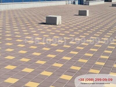 Тротуарная плитка Квадрат 200х200 коричневаяфото 6