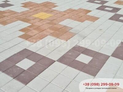 Тротуарная плитка Квадрат 200х200 коричневаяфото 9