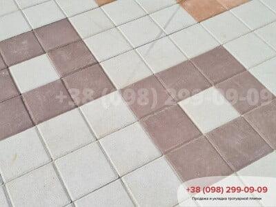 Тротуарная плитка Квадрат 200х200 коричневаяфото 10