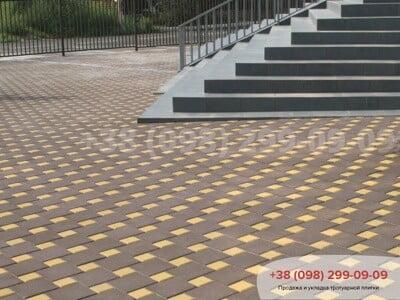 Тротуарная плитка Квадрат 200х200 коричневаяфото 8