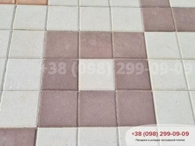 Тротуарная плитка Квадрат 200х200 коричневаяфото 11