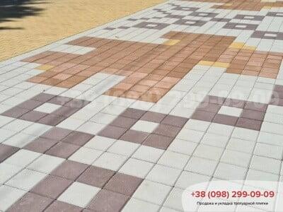 Тротуарная плитка Квадрат 200х200 коричневаяфото 12