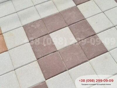 Тротуарная плитка Квадрат 200х200 коричневаяфото 13