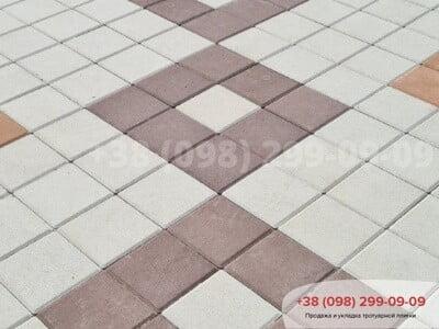 Тротуарная плитка Квадрат 200х200 коричневаяфото 14