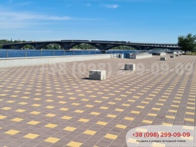 Тротуарная плитка Квадрат 200х200 коричневаяфото 3
