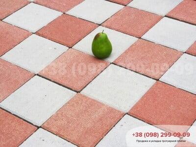Тротуарная плитка Квадрат 200х200 Краснаяфото 3