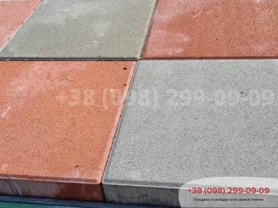 Тротуарная плитка Квадрат 200х200 Краснаяфото 5
