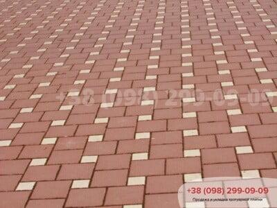 Тротуарная плитка Квадрат 200х200 Краснаяфото 2