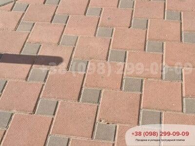 Тротуарная плитка Квадрат 200х200 Краснаяфото 7