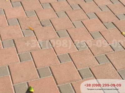 Тротуарная плитка Квадрат 200х200 Краснаяфото 8