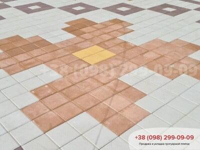 Тротуарная плитка Квадрат 200х200 Персиковаяфото 5