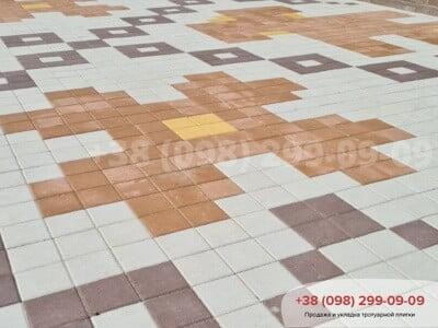 Тротуарная плитка Квадрат 200х200 Персиковаяфото 6