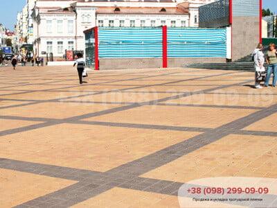 Тротуарная плитка Квадрат 200х200 Персиковаяфото 3