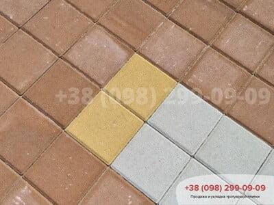 Тротуарная плитка Квадрат 200х200 Персиковаяфото 4