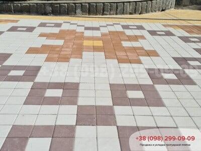 Тротуарная плитка Квадрат 200х200 Персиковаяфото 7
