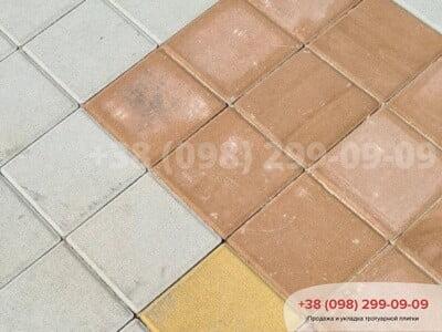 Тротуарная плитка Квадрат 200х200 Персиковаяфото 8