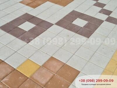 Тротуарная плитка Квадрат 200х200 Персиковаяфото 10