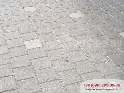 Тротуарная плитка Квадрат 200х200 сераяфото 4