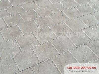 Тротуарная плитка Квадрат 200х200 сераяфото 3