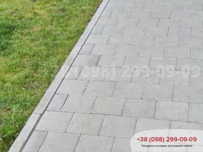 Тротуарная плитка Квадрат 200х200 сераяфото 7