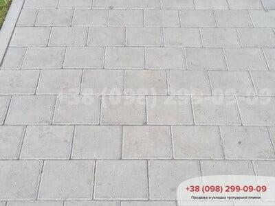 Тротуарная плитка Квадрат 200х200 сераяфото 8