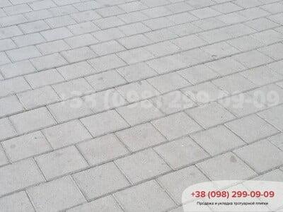 Тротуарная плитка Квадрат 200х200 сераяфото 6