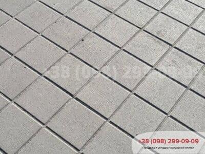 Тротуарная плитка Квадрат 200х200 сераяфото 1