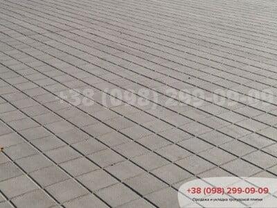 Тротуарная плитка Квадрат 200х200 сераяфото 2