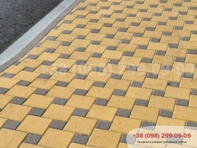 Тротуарная плитка Квадрат 200х200 Желтыйфото 15