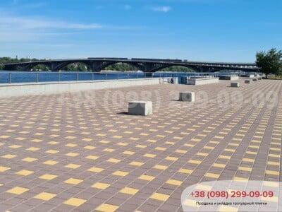 Тротуарная плитка Квадрат 200х200 Желтыйфото 5