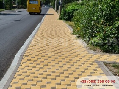 Тротуарная плитка Квадрат 200х200 Желтыйфото 18