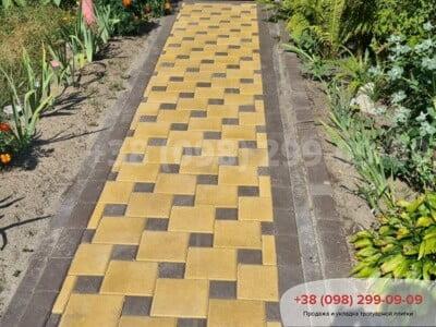 Тротуарная плитка Квадрат 200х200 Желтыйфото 6