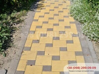 Тротуарная плитка Квадрат 200х200 Желтыйфото 12