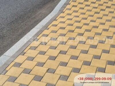 Тротуарная плитка Квадрат 200х200 Желтыйфото 13