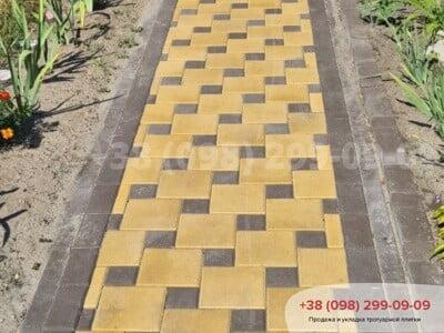 Тротуарная плитка Квадрат 200х200 Желтыйфото 14