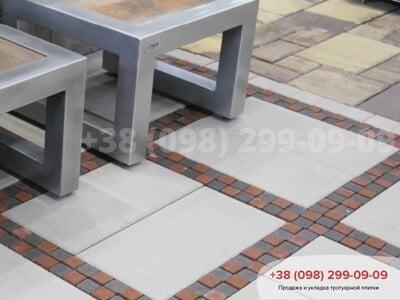 Тротуарная плитка Неолит белаяфото 2