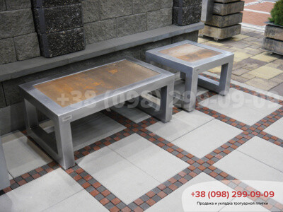 Тротуарная плитка Неолит белаяфото 4