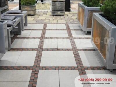 Тротуарная плитка Неолит белаяфото 1