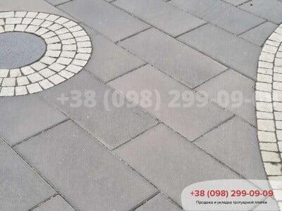 Тротуарная плитка Неолит Черныйфото 3