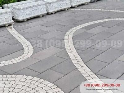 Тротуарная плитка Неолит Черныйфото 4