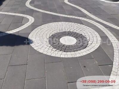 Тротуарная плитка Неолит Черныйфото 1