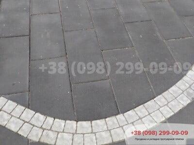 Тротуарная плитка Неолит Черныйфото 2